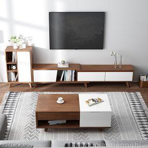 Bộ bàn trà kệ tivi phòng khách đẹp 012CPK-PK004
