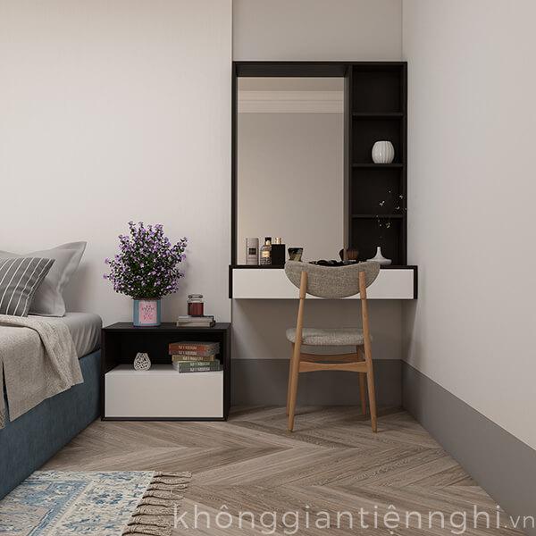 Bàn trang điểm treo tường gỗ có gương 012BTD468-19120