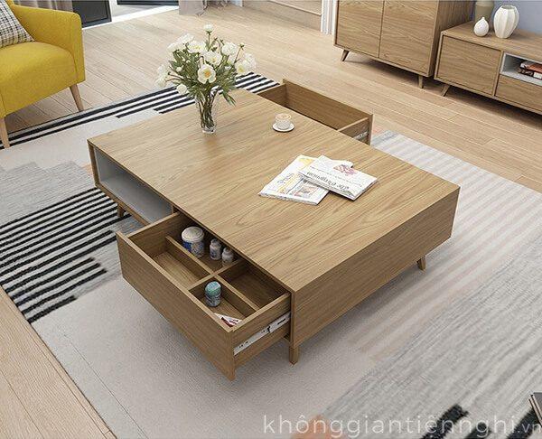 Bàn trà và kệ tivi gỗ Vifuta-012CPK-PK007