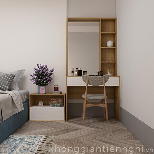 Bàn trang điểm bằng gỗ kèm gương 012BTD468-19020