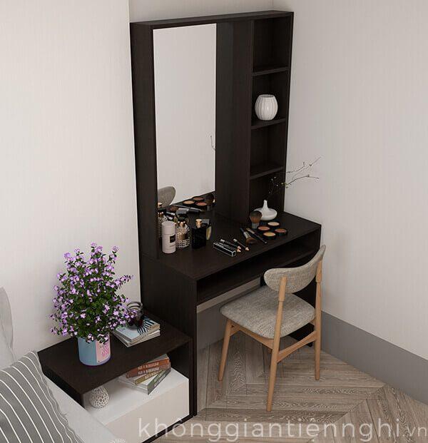 bàn trang điểm bằng gỗ kèm gương hiện đại BTD-VF468-19020