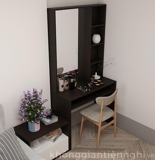 bàn trang điểm bằng gỗ kèm gương hiện đại 012BTD468-19020