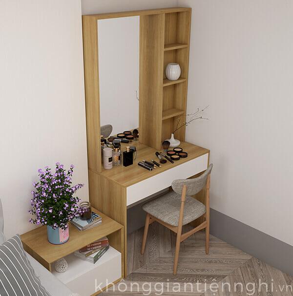 Bàn trang điểm đặt sàn kèm gương 012BTD468-19020