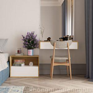 Bàn trang điểm treo tường bằng gỗ hiện đại 012BTD468-110
