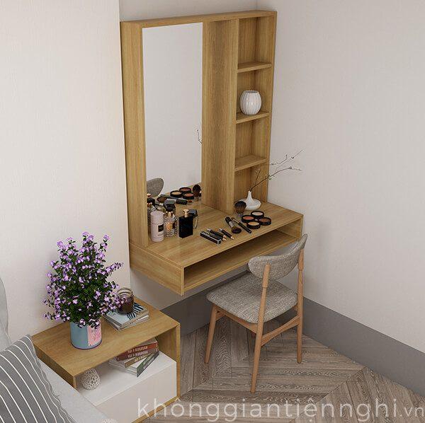 Bàn trang điểm treo tường bằng gỗ BTD-VF468-19120