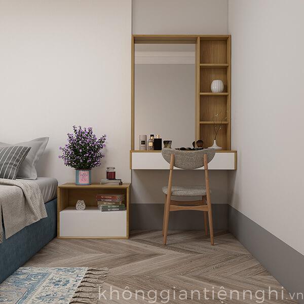 Bàn trang điểm treo tường bằng gỗ hiện đại 012BTD468-19120