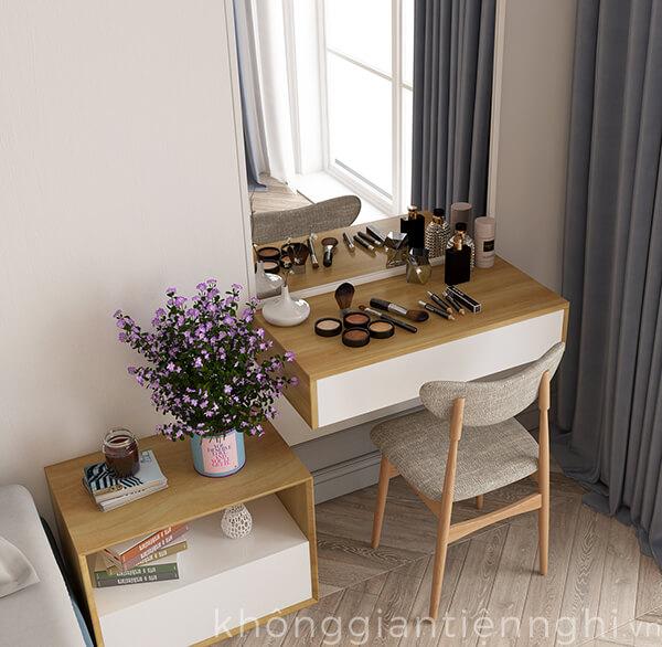 Bàn trang điểm treo tường hiện đại đẹp 012BTD468-110