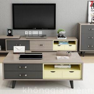 Bộ sofa bàn trà kệ tivi phòng khách cao cấp 012CPK-Norta-SFL3116