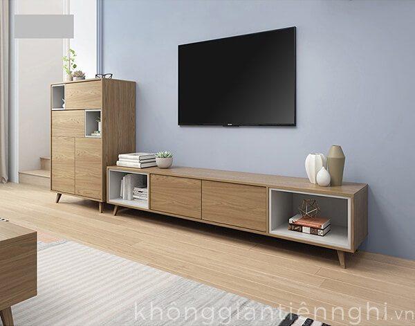 Bộ bàn trà và kệ tivi đồng bộ Vifuta-012CPK-PK007