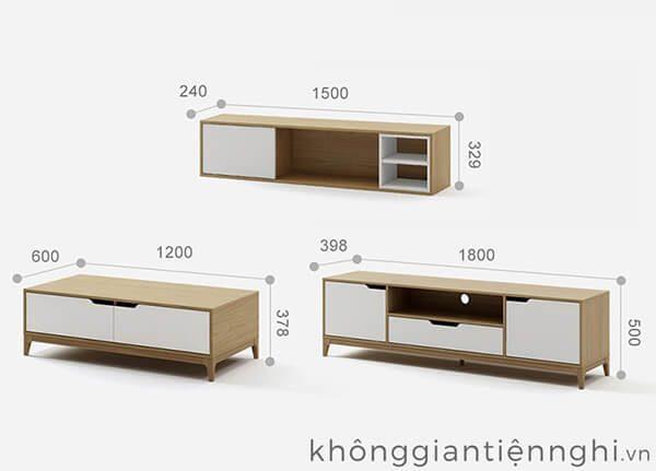 Kệ tivi bàn trà gỗ đẹp 012CPK-PK006