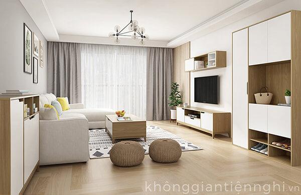 Kệ tivi phòng khách chung cư 012CPK-PK006
