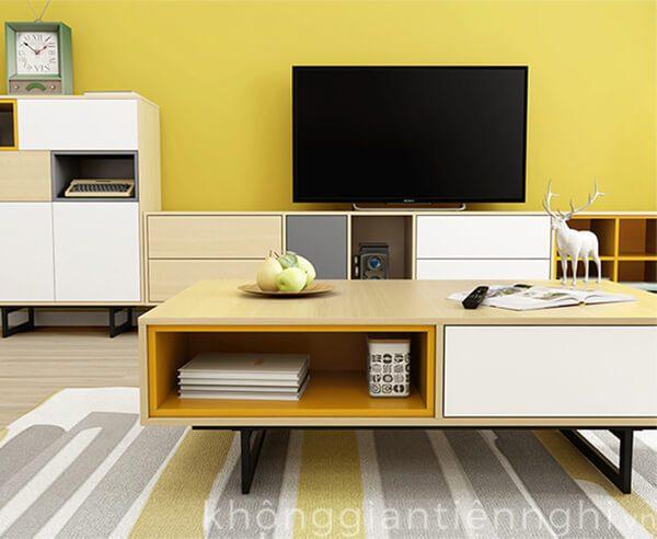 Kệ tivi và bàn sofa phòng khách đẹp 012CPK-NortaPK07