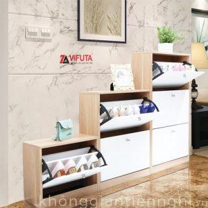 Tủ giày lắp ghép bằng gỗ 012TG551-08003