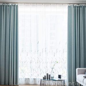 Rèm cửa bằng vải đơn màu RC-V001