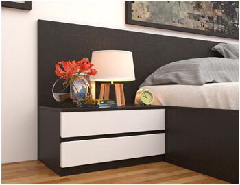 Tab đầu giường ngủ 2 ngăn kéo TDG008