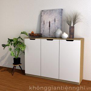 Tủ giày 3 cánh 1m2 bằng gỗ  012TG551-12010