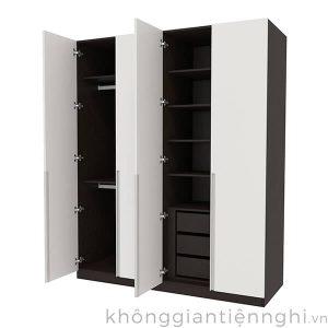 Tủ đựng quần áo bằng gỗ 4 cánh mở 012QA268-151