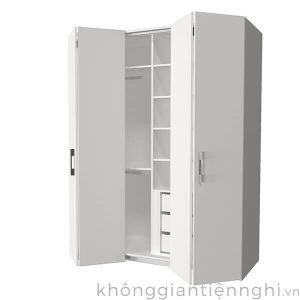 Tủ đựng quần áo bằng gỗ 2 cánh gập 012QA268-351