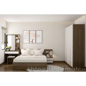 Bộ giường ngủ tủ quần áo bàn trang điểm Vifuta-012BPN04