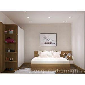 Bộ giường tủ phòng ngủ bằng gỗ Vifuta 012BPN02