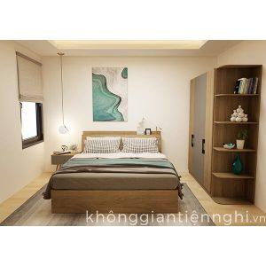 Bộ giường tủ phòng ngủ phong cách Bắc Âu cao cấp 012BPN-NORTA01
