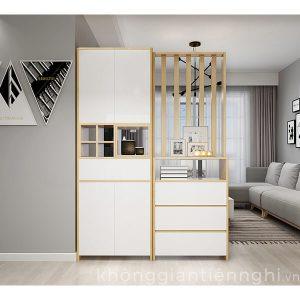 Tủ giày kết hợp tủ trang trí KGTN-012TG551-120200