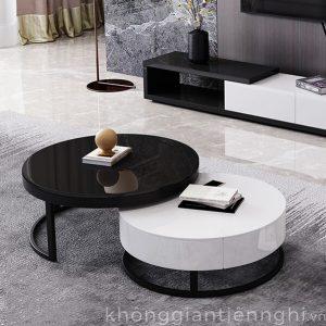 Bàn trà sofa cao cấp hình tròn KGTN 011BT001