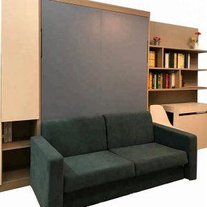 Giường gấp thông minh gắn tường kết hợp Sofa 012GN333-V150SX
