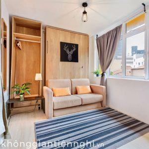 Giường ngủ thông minh gấp gọn vào tường kèm sofa 012GN333-V150SX