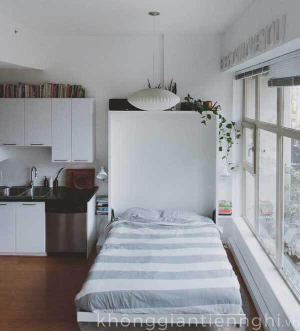 Mẫu giường ngủ đơn giản thông minh