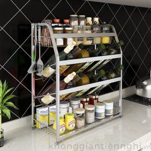 Kệ đựng gia vị nhà bếp để bàn inox 304 011KNB002
