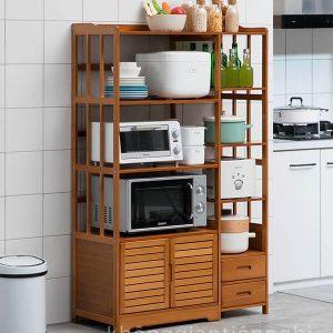 Kệ tủ nhà bếp để bát đĩa, lò vi sóng, gia vị KGTN 011KNB006