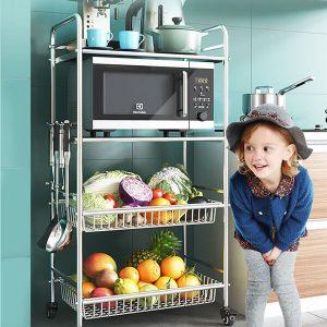 Kệ nhà bếp inox 304 4 tầng cho nhà chật- chung cư KGTN 011KNB005