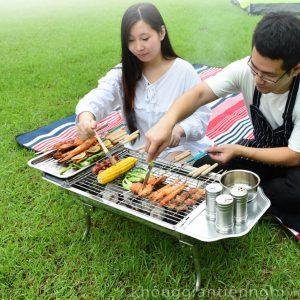 Bếp nướng ngoài trời, nướng BBQ bằng than hoa  KGTN 011BN002