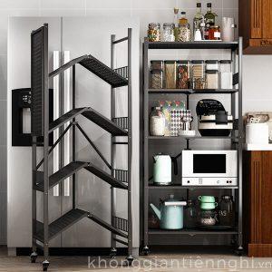 Kệ để đồ nhà bếp thông minh cho nhà nhỏ có bánh xe KGTN 011KNB007