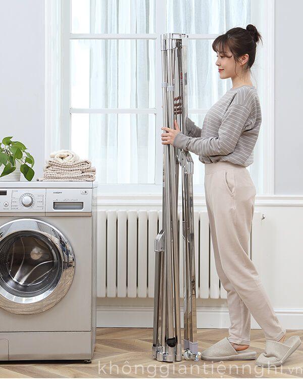 Giàn phơi quần áo cao cấp gấp gọn KGTN 011GP004